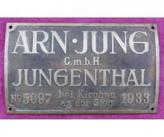 Fabrikschild JUNG 5097 / 1933