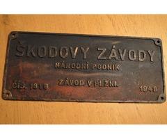 Fabrikschilder 'SKODOVY ZAVODY'