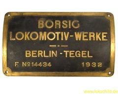 Biete Fabrikschild von Lok 24 069 / Suche Fabrikschild von Lok 24 070