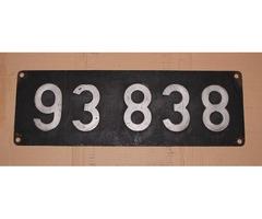 Lokschild 93 838
