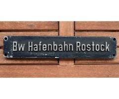 Lokschild Bw Hafenbahn Rostock (original)