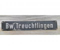 Original Lokschild Bw Treuchtlingen Lücker