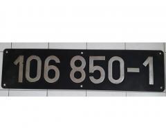 Lokschild 106 850 im Tausch abzugeben