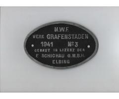 Orginalfabrikschild Magdeburger Maschinenfabrik