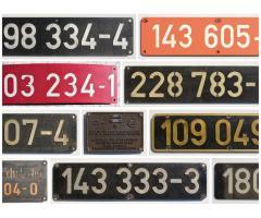 Diverse DR / DB AG Lokschilder abzugeben (u.a. BR 099, 103, 180, 232, etc.)