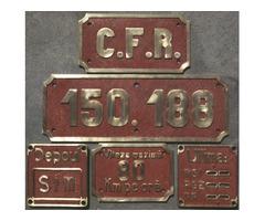 Verkauf Schildersatz CFR 150.188 in Messing